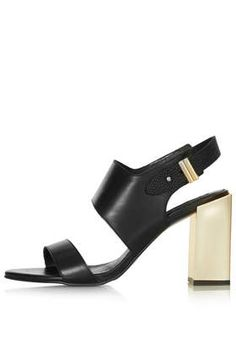 TopShop really knows how to design affordable chic for the masses! TopShop RHAPSODY Metal Heel Shoes