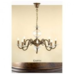 Lustrarte 362/8 Eight Light One Tier Chandelier from the Etrusca Collection