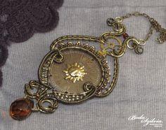 VICTORIANA  STEAMPUNK NECKLACE  brass and bronze by bodaszilvia, $65.50
