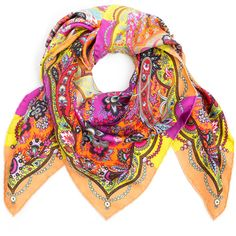 Etro Pink Jaipur Paisley Silk Scarf (180 AUD) ❤ liked on Polyvore featuring accessories, scarves, paisley shawl, pink silk scarves, paisley scarves, print scarves and patterned scarves