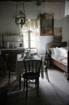 """magicalhome: """"A single, multi-use vintage room filled with antiques. Decor, House Design, House, Interior, Home, House Interior, Cottage Interiors, Small Space Living, Interior Design"""