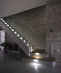 Elegant Hallway Stairs Lighting Ideas