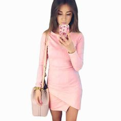 Fashion Womens Irregular Long Sleeve Bodycon Shoulder Mini Dress Ladies Party Evening Women Dresses vestidos  #beautiful #hair #outfitoftheday #jewelry #fashion #model #cute #jennifiers #styles #beauty #makeup #outfit #style #stylish #purse