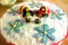 Oreo Cake with a christmas theme
