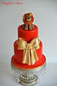 Birthday cake for the King - Cake by Magda Lion Cakes, Cake Decorating Courses, Red Cake, Animal Cakes, Unique Wedding Cakes, Cake Gallery, Novelty Cakes, Elegant Cakes, Gorgeous Cakes