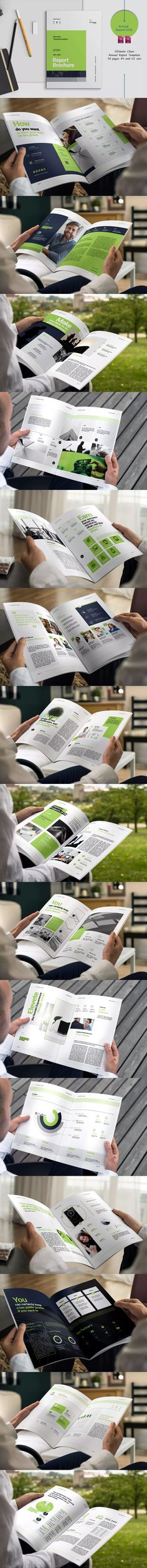 Annual Report Template InDesign INDD - A4 and US Letter SIze