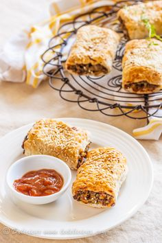 Mushroom Lentil Rolls __ uses frozen (thawed) puff pastry, red wine, dijon mustard, veg. stock, & other, usual ingred.