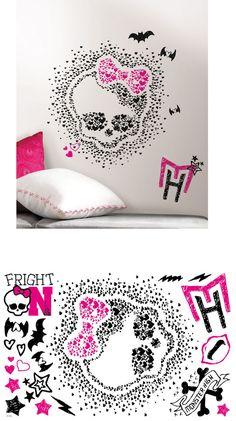Monster High Heart Skullette Wall Decals - Wall Sticker Outlet