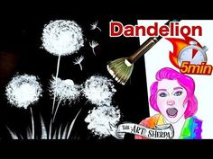 ☆ How to paint a dandelion Learn EVERYTHING in 5 minutes ☆ #3 | TheArtSherpa