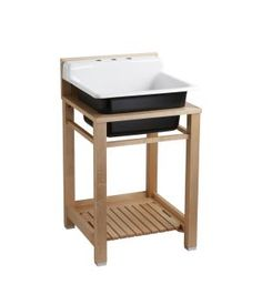 Bayview™ wood stand utility sink