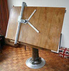 FANTASTIC VINTAGE RETRO INDUSTRIAL ARCHITECT DRAFTING TABLE BY NIKE ESKILSTUNA