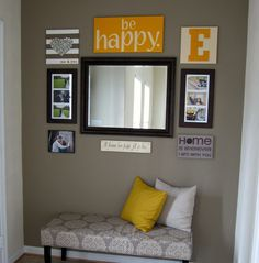 diy entryway wall by yours truly! (: