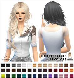 Miss Paraply: MaySims Hairstyle retextured - Sims 4 Hairs - http://sims4hairs.com/miss-paraply-maysims-hairstyle-retextured/