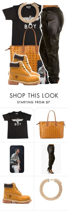 """Sans titre #399"" by lesliekabengele on Polyvore featuring mode, BOY London, MCM, Timberland et Forever 21"
