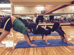 Family Yoga at the Chelsea Piers Athletic Club is fun for everyone!