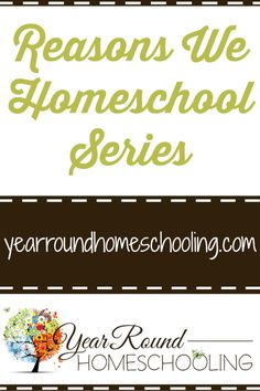 Reasons We Homeschool Series
