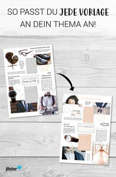 Eine Geburtstagszeitung gestalten wird um einiges leichter, wenn du Vorlagen benutzt. Wenn keine unserer Vorlagen zu deinem Geschmack passt, kannst du sie ganz einfach individualisieren! Wir zeigen dir hier, wie das geht. #geburtstagszeitung #geschenk #geburtstag #zeitschriftgestalten #tipps #vorlage #ideen #gestaltung #layout #hilfe Scientific Journal, Layout, Blog, Templates, Wedding, Designs, Petra, Paper Craft, Fun Stuff