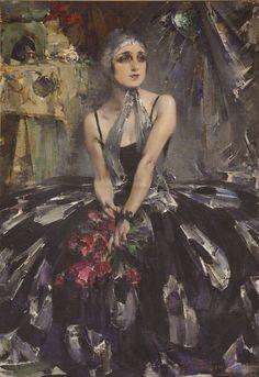Nicolai Fechin (Russian-American 1881–1955) Ballerina Vera Fokina, 1927 From Baylor University's on-campus art museum; currently on loan to The Museum of Russian Art (TMoRA) in Minneapolis, Minn....