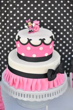 Minnie Mouse Cooking Party cake