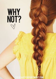 A cute way to add a little detail to your braid!