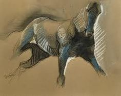 horses in chalk pastel - Google Search