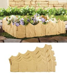 Low Edge Easy Snap Garden Borders - Set of 4 from Collections Etc.