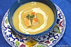 Potage aux poireaux et aux poires Hummus, Panna Cotta, Pudding, Blog, Ethnic Recipes, Desserts, Ideas, Pears, Healthy