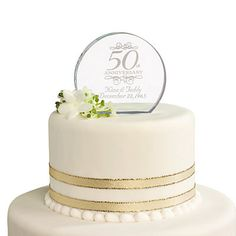 Personalized 50th Anniversary Cake Topper