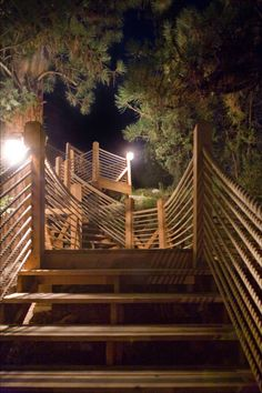 River Camp: staircase - The Resort at Paws Up