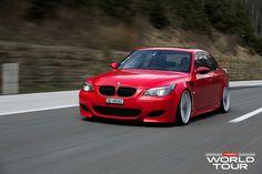Stanced BMW M5 on Vossen Wheels