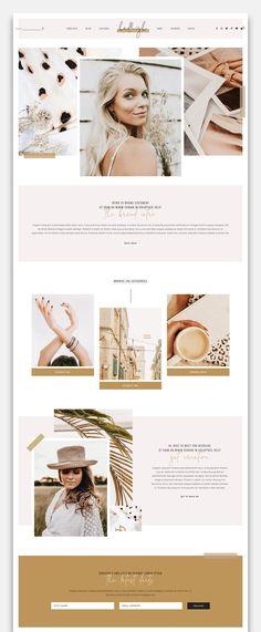 Triple Image, Single Image, Web Design, Graphic Design, Blog Layout, Web Themes, Image List, Custom Fonts, Social Media Icons
