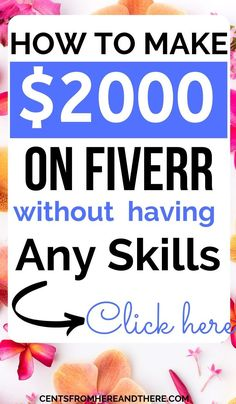 Do you want to make money online but have no skills? You can make money on fiverr even without any skills. Earn Money Online, Make Money Blogging, Online Jobs, Money Tips, Money Saving Tips, Money Order, Make Money Fast, Make Money From Home, Start A Business From Home