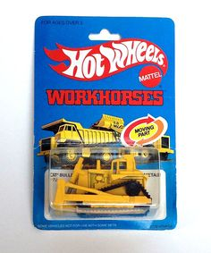 1979 Vintage Hot Wheels Die Cast Workhorses 1172 CAT Bulldozer Unopened #HotWheels #CAT