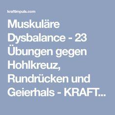 Muskuläre Dysbalance - 23 Übungen gegen Hohlkreuz, Rundrücken und Geierhals - KRAFTIMPULS
