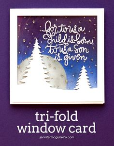 Video: Tri-Fold Window Card | Jennifer McGuire Ink