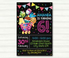 Shopkins Birthday Party Invitation Shopkins party by AS01DESIGN