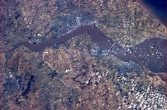 Canadian Space Agency astronaut Chris Hadfield posted this image of Kingston upon Hull port on the Humber Estuary in Northern England on May...
