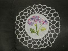 bordado flor ponto caseado duplo