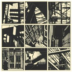 Nine inch hand cut papercuts from Edinburgh parliament series Architecture Drawing Sketchbooks, Ligne Claire, Tinta China, A Level Art, Building Art, Linocut Prints, Art Sketchbook, Edinburgh, Urban Art