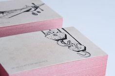 Kingsbourne business cards by Rowan Toselli, via Behance