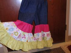Triple tiered Rumba pants - I made using the book Little Girls Big Style
