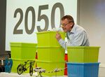 Hans Rosling (GapMinder) uses non-technology data visualization (e.g. IKEA boxes) to tell an important story with data about population growth.