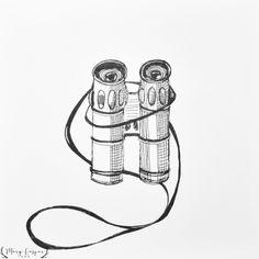 Binoculars sketch art