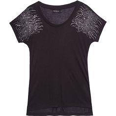 ELLUS T-shirt hotfix zebra preta