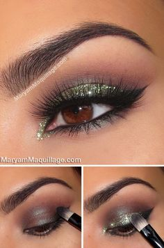 Glam emerald eyes