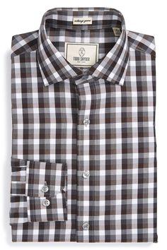 Check Trim Fit Dress Shirt