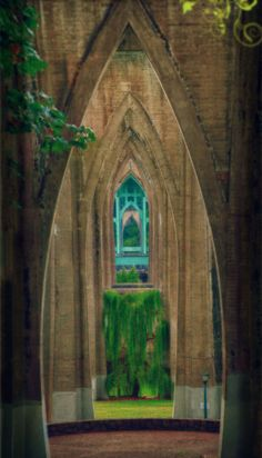 Under St. John's Bridge in Portland Oregon - there's a park that looks like a cathedral! | 22 Of The Coolest Places To Get Married In America