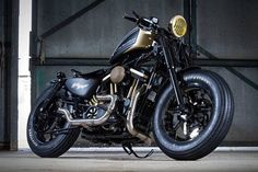 Harley-Davidson Sportster by King Slayer. Discover all our Custom Bikes and enjoy all our Cafe Racer Tuned around the world. Hd Sportster, Harley Davidson Sportster 883, Harley Bobber, Harley Davidson Motorcycles, Harley Davidson Uk, Harley Davidson Dealership, Motorcycle Camping, Bobber Motorcycle, Camping Gear