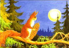 Chipmunks, Book Illustration, Pine Cones, Finland, Squirrel, Woodland, Painting, Art, S Pic