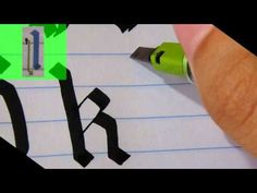 Calligraphy History & Styles : Calligraphy in Gothic Capitals: Pt. 2 - YouTube